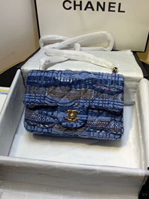 2020 CC original tweed classic mini flap bag A69900 blue