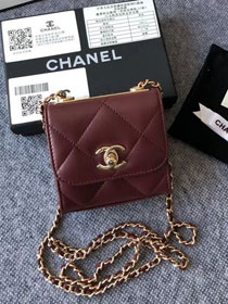 CC original lambskin clutch with chain A81633 bordeaux