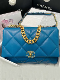 2020 CC original lambskin 19 maxi flap bag AS1162 blue
