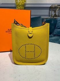 Hermes original togo leather mini evelyne tpm 17 shoulder bag E17 yellow