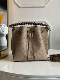 2020 louis vuitton original mahina leather muria bucket bag M55799 grey