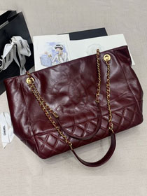 2020 CC original aged calfskin shopping bag AS1875 bordeaux