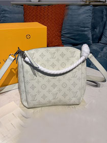 Louis vuitton original mahina leather babylone M51767 white