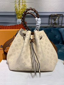 Louis vuitton original mahina leather girolata handbag M53915 beige