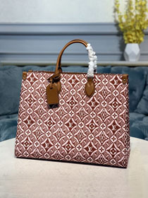 2021 louis vuitton original 1854 textile onthego tote bag m57185 bordeaux