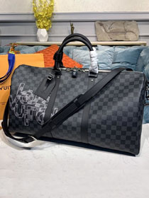 Louis vuitton original damier graphite keepall 50 N40263