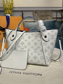 Louis vuitton original mahina leather hina pm M54353 white