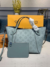 Louis vuitton original mahina leather hina pm M54351 blue