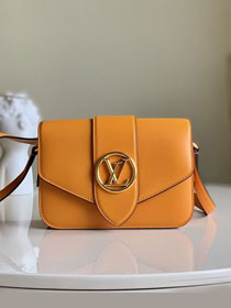 2020 louis vuitton original calfskin pont 9 bag M55946 yellow