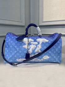 Louis vuitton original monogram keepall 50 M86988 blue