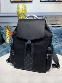 Louis vuitton original taiga leather outdoor backpack M30417 black