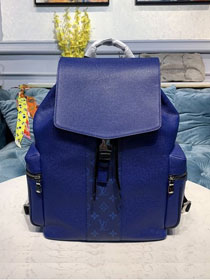 Louis vuitton original taiga leather outdoor backpack M30419 blue