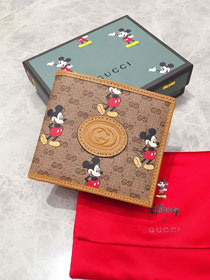 GG canvas disney wallet 602547 brown
