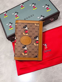 GG canvas disney wallet 602538 brown