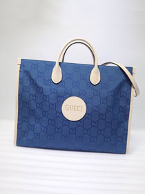 GG original canvas off the grid tote bag 630353 blue