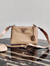 Prada nylon re-edition 2000 shoulder bag 1BH046 apricot