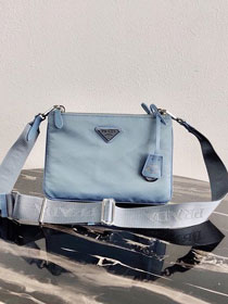 Prada nylon re-edition 2000 shoulder bag 1BH046 light blue