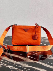 Prada nylon re-edition 2000 shoulder bag 1BH046 orange