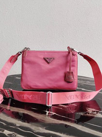 Prada nylon re-edition 2000 shoulder bag 1BH046 pink