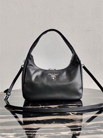 Prada original calfskin hobo bag 1BC132 black