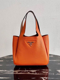 Prada original grained calfskin handbag 1BG335 orange