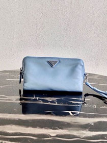 Prada original nylon pouch 1NE693 light blue
