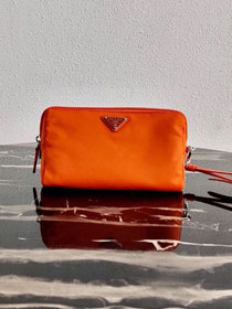Prada original nylon pouch 1NE693 orange