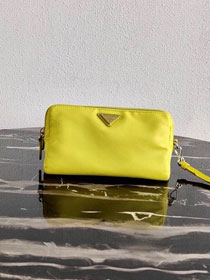Prada original nylon pouch 1NE693 yellow