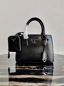 Prada original saffiano leather galleria micro bag 1BA296 black