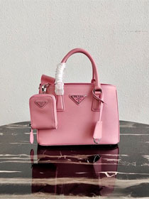 Prada original saffiano leather galleria micro bag 1BA296 pink