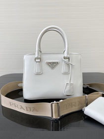 Prada original saffiano leather galleria micro bag 1BA296 white