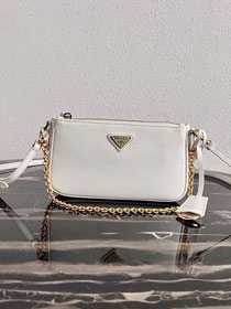 Prada original saffiano leather re-edition 2000 shoulder bag 1BH171 white