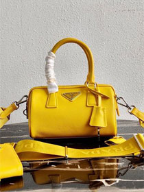 Prada original saffiano leather re-edition 2005 bag 1BB846 yellow