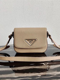 Prada original saffiano leather shoulder bag 1BD249 apricot