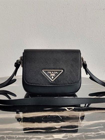 Prada original saffiano leather shoulder bag 1BD249 black