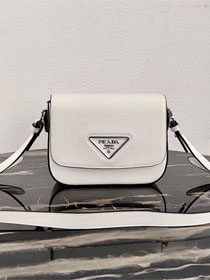 Prada original saffiano leather shoulder bag 1BD249 white