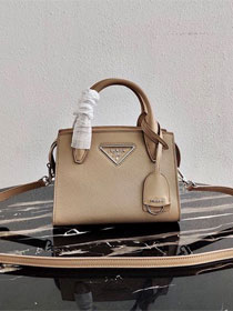 Prada original saffiano leather small monochrome bag 1BA269 apricot