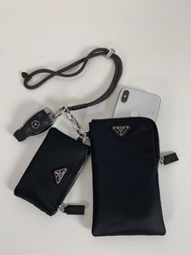 Prada two nylon pouches 2TT091 black