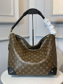 Louis vuitton monogram reverse canvas triangle softy M44130