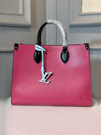 2020 louis vuitton original epi leather onthego tote bag M56229 rose red