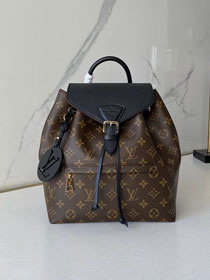 Louis vuitton original monogram montsouris backpack M45501 black