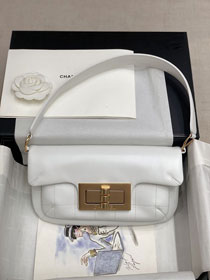 2020 CC original calfskin shoulder bag AS1886 white
