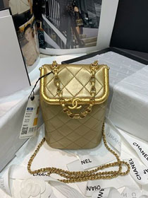 2020 CC original lambskin medium kiss-lock bag AS1887 gold
