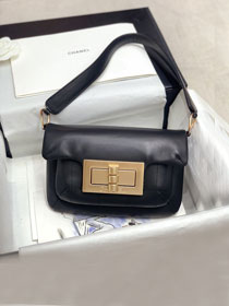 2020 CC original calfskin small shoulder bag AS1885 black