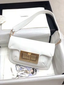 2020 CC original calfskin small shoulder bag AS1885 white