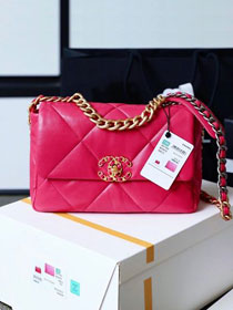 2020 CC original lambskin 19 flap bag AS1160 rose red