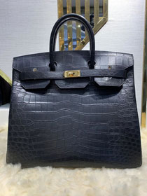 Top hermes genuine 100% crocodile leather handmade birkin 40 bag K400