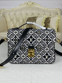 2021 louis vuitton original since 1854 textile pochette metis handbag M57272 grey
