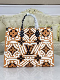 2021 louis vuitton original monogram giant canvas onthego tote gm M45359 caramel