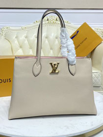 2021 Louis vuitton original calfskin lockme shopper handbag M57346 grey